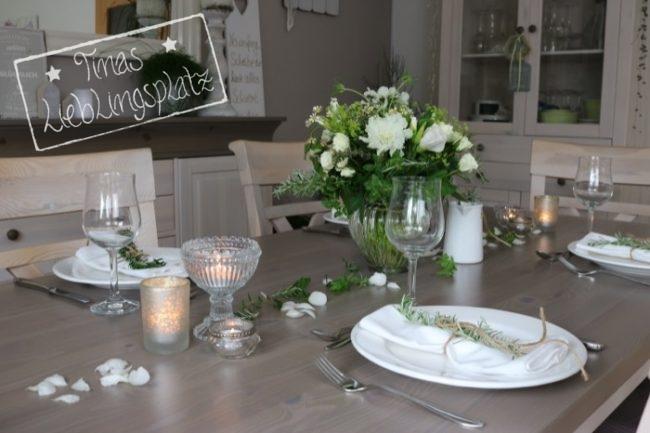 Tischdekoration In Weiss Sommerlich Elegant Tinas Lieblingsplatz