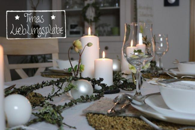 Winterliche Tischdekoration Tinas Lieblingsplatz