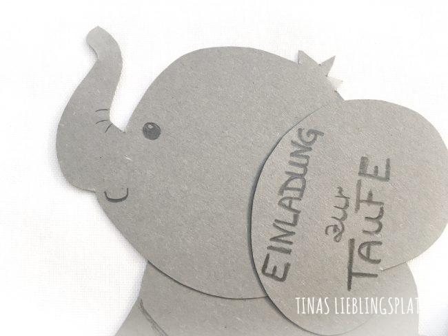 Diy Einladungskarten Für Die Taufe Tinas Lieblingsplatz